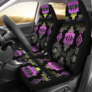 Pink Frost Set of 2 Car Seat Covers