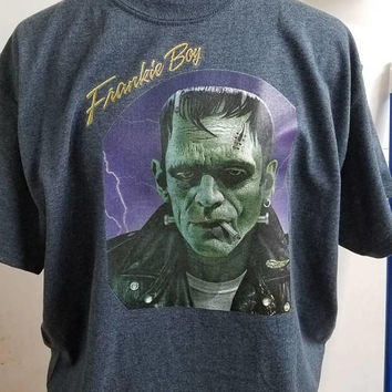 Frankenstein - greaser - goth - gothabilly - horror - unisex - shirt - ladies - shirt - men's - shirt -  Frankie - boy