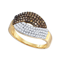Diamond Fashion Ring in 10k Gold 0.72 ctw