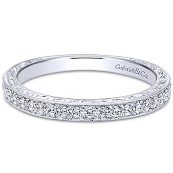 "Gabriel ""Theresa"" Vintage Style Diamond Wedding Band"