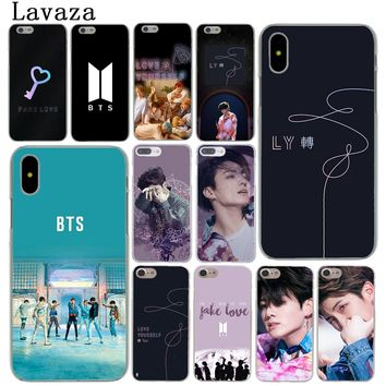 Lavaza BTS Yourself Fake Love Bangtan Boys Hard Cover Case for Apple iPhone X XS Max XR 6 6S 7 8 Plus 5 5S SE 5C 10 Phone Cases