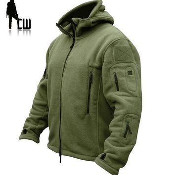 TAD Military Tactical Outdoors Softshell Fleece Jacket Men US Army Sportswear Hunter Clothes Thermal Hike Casual Hoodie Jacket