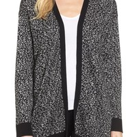 Chaus Metallic Animal Jacquard Long Cardigan | Nordstrom