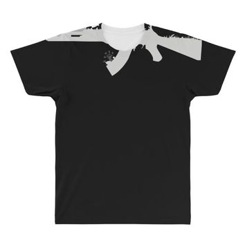 banksy style ak47 art   funny All Over Men's T-shirt