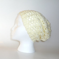 Slouchy Hat Beanie Crocheted, Slouchy Beanie, Knit Slouch Beanie, Slouch hat