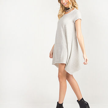 Simple Flared T-Shirt Dress - Small