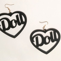 DOLL EARRINGS (Black)