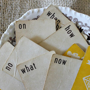 VIntage Vocabulary Playing Cards