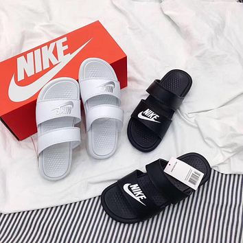 NIKE new tide brand men and women models casual outdoor word beach sandals