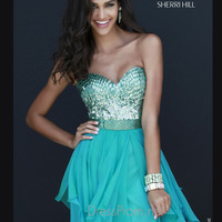 Strapless Sweetheart Formal Prom Gown By Sherri Hill 1934
