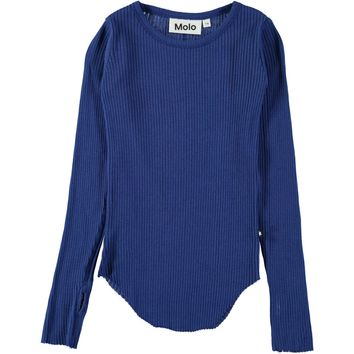 Molo Girls' Primary Blue ROCHELLE Ribbed Top