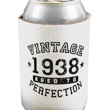 80th Birthday Vintage Birth Year 1938 Can / Bottle Insulator Coolers by TooLoud