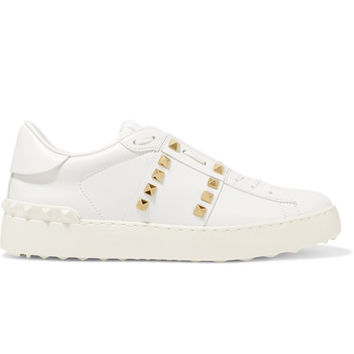 Valentino - Rockstud Untitled leather sneakers