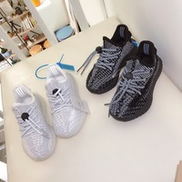 "adidas Yeezy Boost 350 V2 ""Static Reflective"" Toddler Kid Shoes Child Sneakers - Best Deal Online"
