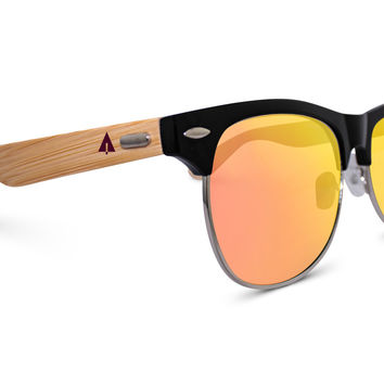 Wooden Sunglasses // Clubmaster 73