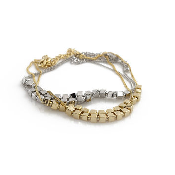 Sterling 18K Plated Polished Bracelet