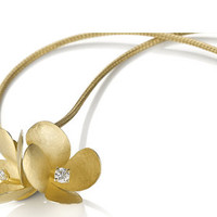 Freesia Pendant in Gold with Diamonds