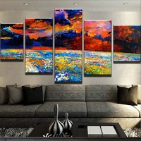 Poppy Field Oil Painting Canvas Set