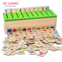 Montessori Educational Wooden Game Recognition Toy Baby Kids Early Learning Classification Box Toys for Children Math Toys