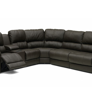 Shop Leather Sectional Recliner Sofa on Wanelo