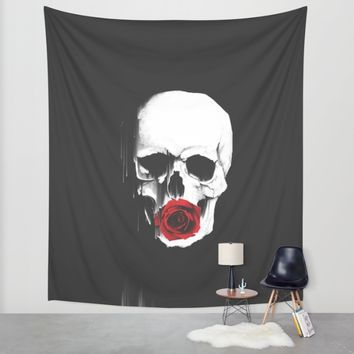 Fragile Love Wall Tapestry by Ducky B