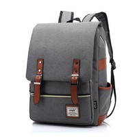 Vintage Women Canvas Daily Backpack Teenager Girls Boys Fashion School Bags Student Campus Mochila Unique Men Travel Rucksack