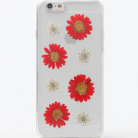 LA Hearts Pressed Red Flower iPhone 6/6s Case at PacSun.com