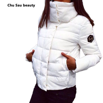 NEW Women Coat 1950s  Fashion Autumn Winter Female Down Jacket Women Parkas Casual Jackets Inverno Parka Wadded plus size