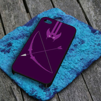Hawkeye The Avengers iPhone 5 iPhone 4 / 4S Plastic Hard Case Soft Rubber Case