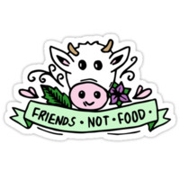 'Vegan Friends Not Food Tumblr ' Sticker by NicolasArt