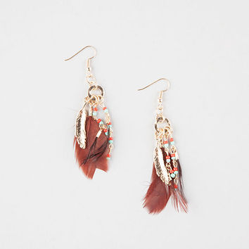 FULL TILT Feather Charm Earrings | Earrings