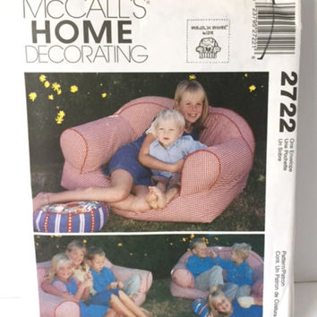 McCalls 2722 Sewing Pattern  Kids Sofa Loveseat Ottoman Chaise Lounge Nursery Home Decor New Uncut