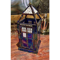 Doctor Who Inspired TARDIS Mosaic Lantern - Timey Wimey Limited Edition