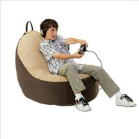 Comfort Magic Large Memory Foam Video Game Chair - Hazelnut/Sage