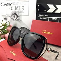 Cartier Woman Fashion Summer Sun Shades Eyeglasses Glasses Sunglasses
