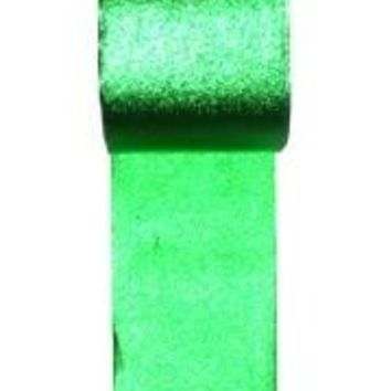100ft x 2in Metallic Green Streamer