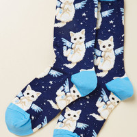 Purr-fect Angel Socks