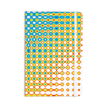 "Dawid Roc ""Psychedelic Art"" Yellow Blue Everything Notebook"