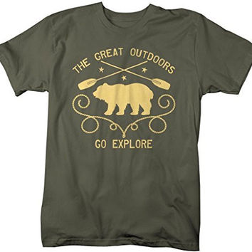 Shirts By Sarah Men's Great Outdoors Go Explore T-Shirt Hipster Shirts