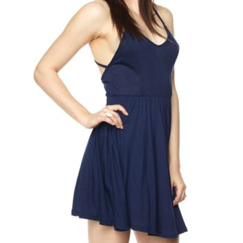 Ari - Cami Deep V Skater Dress