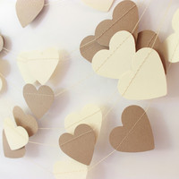 Rustic Wedding Garland, Heart Garland, Wedding Decor, Wedding Garland, Shabby Wedding, Paper Heart Garland, Burlap & Lace, Paper Hearts