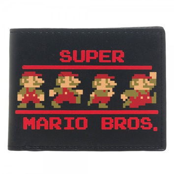 Super Mario - Running Retro Mario Wallet