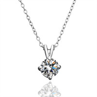 Sparkling Princess Cut CZ Gold Necklace