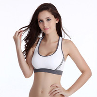 New Women Padded Workout Bra Top Athletic Vest Gym Fitness Sports Yoga StretchFree