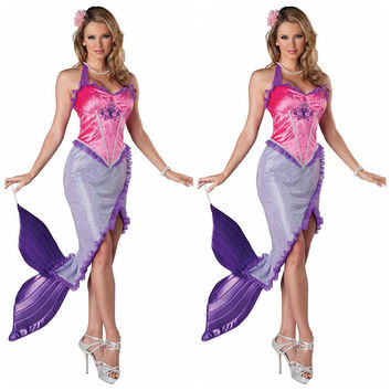 Mermaid Cosplay Anime Cosplay Apparel Holloween Costume [9220293508]