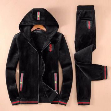 Boys & Men Gucci Fashion Cardigan Jacket Coat Pants Trousers Set Two-Piece