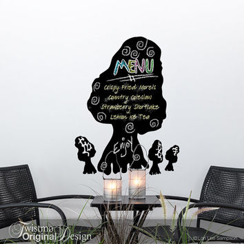 Chalkboard Decal: Large Morel Mushroom Vinyl Wall Decal Chalk Board, Spring Kitchen Decor, Mushroom Decor, Nature Decor