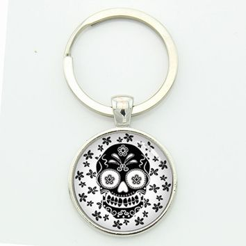Sugar Skull Chain Symbol Of Festival In Mexico Men's Style Of Keychain The Day Of Dead Gift