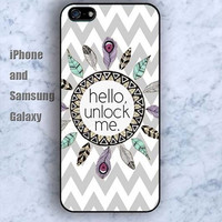dream catcher hello iPhone 5/5S Ipod touch Silicone Rubber Case, Phone cover