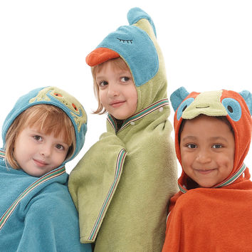 Kids Organic Hooded Towel - Rain Forest
